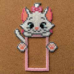 Marie (Aristocats) frame perler beads by Tsubasa Yamashita