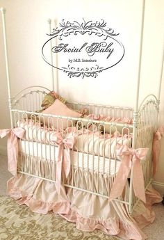 Custom Baby Bedding Baby Girl Bedding in Silk by SocialBabyBedding trendy family must haves for the entire family ready to ship! Free shipping over $50. Top brands and stylish products