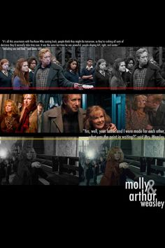Molly and Arthur Weasley - possibly the most adorable parents ever!  Harry Potter