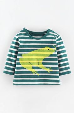 Mini Boden Stripe Graphic T-Shirt (Baby Boys) available at #Nordstrom
