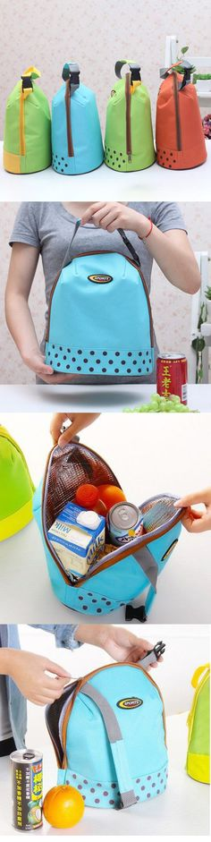 US$5.49 Thicked Keep Fresh Ice Bag Lunch Tote Bag Thermal Food Picnic Bags Travel Bags