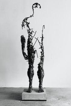 Deconstructed steel sculptures                                                                                                                                                                                 More