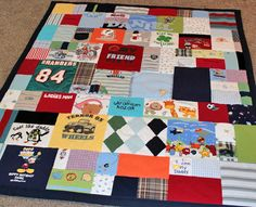 """Make a baby clothes quilt from all of those cute little clothes! One customer said, """"Both my husband, my mom, and myself teared up when we saw the blanket with our son's infant clothing. My close friends were so disappointed they had not kept more of their little girl's clothes to have the same thing done."""" http://www.jellybeanquilts.com"""