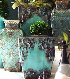Apparently I have something with the color Turquoise :p very beautiful vases though :)