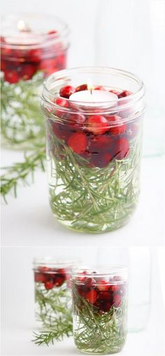 What You Will Need: canning jars rosemary sprigs water fresh cranberries tea light What To Do: Place desired amount of rosemary sprigs into jar (the more pliable the sprig the easier this will be). Pour water into jar until it is 3/4 full. Add desired amount of cranberries. Carefully place tealight on top of cranberries. […]