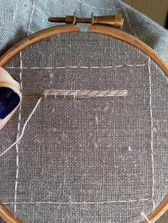 Pattern Darning Sampler - first stitches!