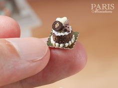 Chocolate Celebration Pastry Miniature Food in by ParisMiniatures
