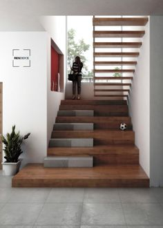 Home Stairs Design, Home Interior Design, Interior Architecture, House Design, Staircase Wall Decor, Staircase Railings, Banisters, Luxury Staircase, Modern Stairs