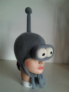 From FUTURAMA cartoonshere's Bender cap in pure by lemagliediAV, Futurama, Crochet Hats, Cap, Pure Products, Cartoon, Trending Outfits, Unique Jewelry, Handmade Gifts, Etsy