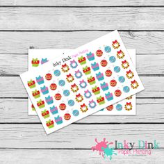 New to InkyDinkPrinting on Etsy: Christmas / Present / Wreath / Ornament / Planner Stickers / Erin Condren / Happy Planner / Plum Planner / EC Life Planner / HS-55 (3.00 USD)