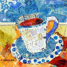 """Yes, Coffee 13074"" - Original Fine Art for Sale - © Nancy Standlee"