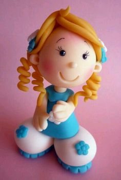 Polymer Clay Sculpture. Very cute.