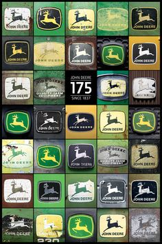 this would be fun to photograph sometime...a bunch of john deere logos and then make a poster of it for the hubby's office