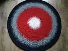Crochet round rug 48'' 122 cm/Crochet by AnuszkaDesign on Etsy