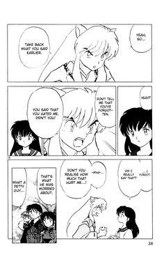 awwwww poor Inuyasha, he cares! Miroku, Kagome Higurashi, Kirara, All Anime, Anime Love, Manga Anime, Sailor Moon, Kagome And Inuyasha, Manga Pages