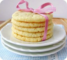 Lemony Almond Cookies