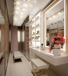 Luxury Bedroom Design, Room Design Bedroom, Home Room Design, Home Decor Bedroom, Home Interior Design, Room Decor, House Design, Parisian Room, Dressing Room Design