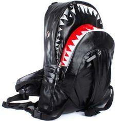 Triline Hot Deluxe Fashion Shark Backpack black, $46.50.