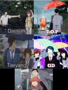 Big Bang when it rains... Lol