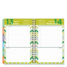Classic RetroPop Wire-bound Six Month Planning Notebook - Jan 2015 - Jun 2015