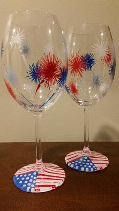 Memorial day camping https://www.etsy.com/listing/192185743/american-patriotic-hand-painted-wine