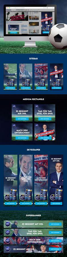 Kreation und HTML5 Programmierung einer interaktiven Video Bannerkampagne rund um Marcel Koller Digitalkampagne für Nivea Men. Marcel, Nivea, Banner, Videos, Round Round, Banner Stands, Banners