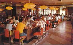 Howard Johnson's Restaurant Interior Dining Room Vintage Photo Postcard