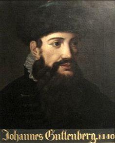 Johannes Gutenberg   ... portrait of Johannes Gutenberg dated 1440, Gutenberg Museum.JPG