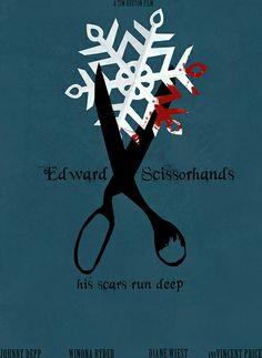 Edward Scissorhands (1990) - Minimal Movie Poster by Helen Flight #minimalmovieposters #alternativemovieposters