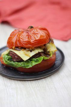 Hamburger de tomate au boeuf & fromage français