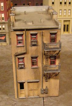 HO Scale Building DPM City Structure Stone Bakery Bult Up Weathered | eBay
