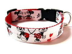 Disney Dog Collar Minnie and Mickey Mouse in Love by Dogologie