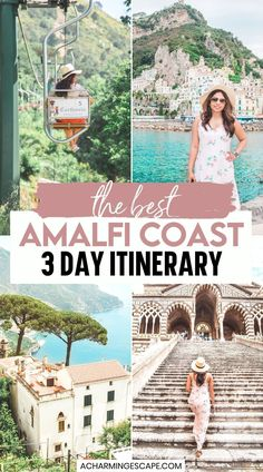 The Best Amalfi Coast 3 Day Itinerary. The Ultimate Travel Guide to the Amalfi Coast | Top things to do and most instagrammable places in Amalfi Coast, Italy including Positano, Amalfi, Ravello, Capri. | Visit Amalfi Coast | Amalfi Coast Italy | Positano Italy | Capri Italy | Italy vacation | Amalfi Coast Itinerary Positano Italy, Capri Italy, Italy Italy, Amalfi, Italy Travel Tips, Packing List For Travel, Travel Deals, Travel Guides, Almafi Coast