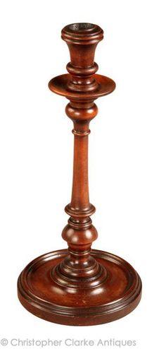 Antique Portable Treen Candlestick