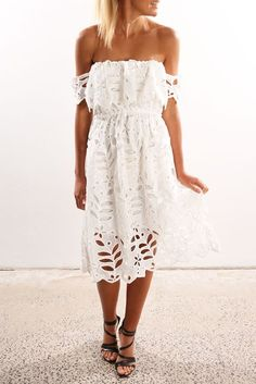 Something About You Dress White