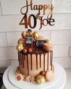 70th Birthday Cake For Men, Birthday Drip Cake, Funny Birthday Cakes, Bithday Cake, 40th Cake, Elegant Birthday Cakes, 28th Birthday, Chocolate Birthday Cake For Men, Birthday Ideas