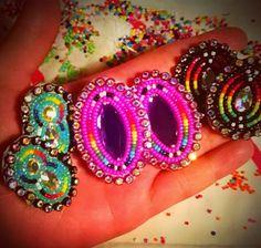 Yes, it's homemade beaded earrings.