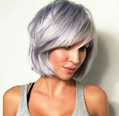 Steely Lavender hair use Pure Blends on lightened hair to achieve! Love Hair, Great Hair, Cooler Style, Lilac Hair, Silver Lavender Hair, Lavender Color, Corte Y Color, Haircut And Color, Hair Dos