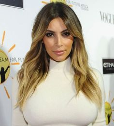 Kim Kardashian, Blonde. It's official, I must have this hair!