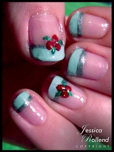 more simple Holiday nails!