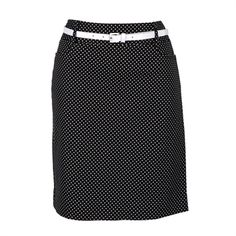 Olivia & Martin Petite Polka Dotted Pencil Skirt with Belt
