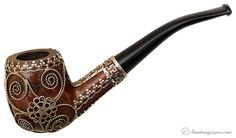 I love this.  Misc. Estate Smooth Bent Billiard with Geometric and Knot Designs (Unsmoked) Pipes at Smoking Pipes .com