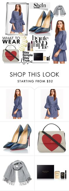 """""""Untitled #84"""" by solanica ❤ liked on Polyvore featuring Haute Hippie, Christian Louboutin, Kate Spade, Vero Moda, Gucci and Urban Decay"""