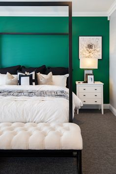 Four Poster Bed, Bedroom Posters, Display Homes, White Furniture, Confident, Master Bedroom, Colour, Architecture, Luxury