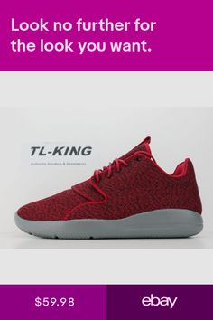 51b1c1112dd Nike Air Jordan Eclipse Gym Red Cool Grey Black 724010-600 Msrp  110 CE