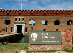 photo of the entrance to fort jefferson