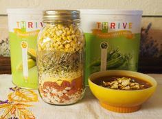 Chicken Tortilla Soup in a Jar and other recipes - Freeze Dried Food IS Good: My Favorite Recipes Best Camping Meals, Make Ahead Meals, Camping Life, Mason Jar Meals, Meals In A Jar, Mason Jars, Thrive Food Storage, My Favorite Food, Favorite Recipes