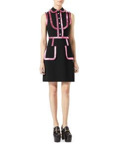 Get free shipping on Gucci Jersey Shirtdress with Metallic Trim at Neiman Marcus. Shop the latest luxury fashions from top designers.