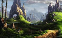 2013 Fantasy 039529 wallpaper, grassland, nature, alien planet