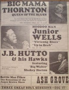 Big Mama Thornton, Junior Wells and J. Band Posters, Music Posters, Concert Posters, Rhythm And Blues, Blues Music, Junior Wells, Ash Grove, Classic Blues, Old Rock